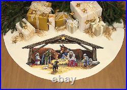 Dimensions Cross Stitch Kit Nativity Scene Tree Skirt