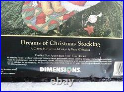 Dimensions Dreams of Christmas Sugarplums Stocking Kit 8497 Gold Collection