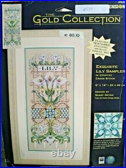Dimensions Exquisite Lily Sampler # 35064 Gold Collection 2001 Very Rare