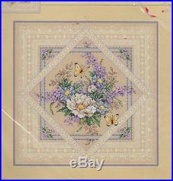 Dimensions FLOWERS AND LACE Counted XStitch Kit, Mpn 35105, Sealed, Sandy Orton