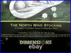 Dimensions GOLD COLLECTION Counted Cross Stocking KIT, THE NORTH WIND, 8599, USA