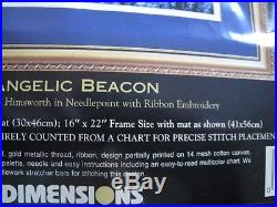 Dimensions GOLD COLLECTION Needlepoint PICTURE Kit, ANGELIC BEACON, Angel, 2449, USA