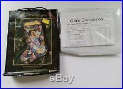 Dimensions GOLD Collection Cross Stitch Kit GLAD TIDINGS STOCKING # 8564