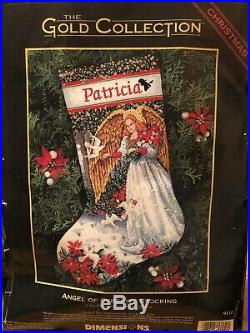 Dimensions GOLD Stocking Kit ANGEL OF SERENITY Christmas Needlepoint 9110