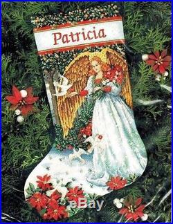 Needlepoint Christmas Stocking Kit.Dimensions Gold Angel Of Serenity Needlepoint Christmas