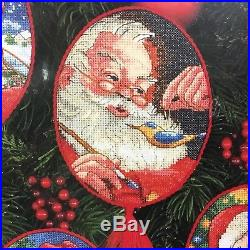 Dimensions Gold Collection 8755 Spirit of Santa Ornaments Sealed Cross Stitch