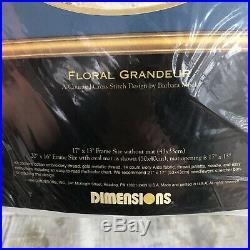 Dimensions Gold Collection Floral Grandeur Cross Stitch Kit #3778 Barbara Mock