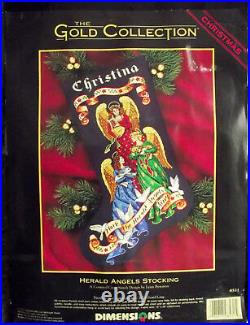 Dimensions Gold Collection Herald Angels Cross Stitch Stocking Kit 8531 Xmas