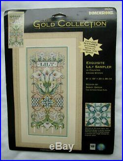 Dimensions Gold Collection / Sandy Orton Exquisite Lily Sampler Cross Stitch Kit