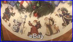Dimensions Gold Collection St. Nicholas Tree Skirt Table Cover Cross Stitch Kit