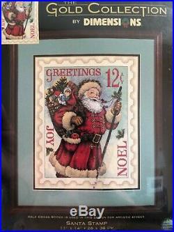 Dimensions Gold Cross Stitch Kit Santa Stamp New