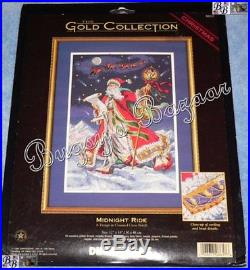 Dimensions Gold MIDNIGHT RIDE Christmas Counted Cross Stitch Picture Kit 8617