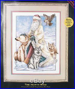 Dimensions Gold THE NORTH WIND Cross Stitch Kit Old World Santa with Animals
