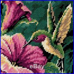 Dimensions Hummingbird Drama Mini Needlepoint Kit-5X5 Stitched In Thread