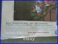 Dimensions Merry Moment Santa Christmas Needlepoint Stocking Kit 9126 NOS 2001