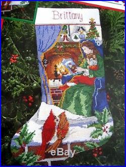 Dimensions Needlepoint Holiday Stocking Kit, COZY CHRISTMAS, Himsworth, 9101,16