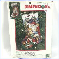 Dimensions SANTA'S STORY STOCKING Needlepoint Kit 9103 NEW Betty Whiteaker