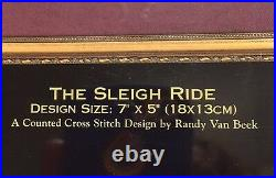 Dimensions The Gold Collection Petites The Sleigh Ride Cross Stich Kit RARE NIP
