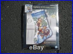 Dimensions The Gold Collection Victorian Bears Stocking New #8753 Counted Cross