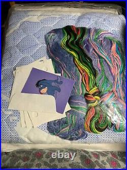 Disney Baby Eeyore Cross Stitch Baby Quilt Kit 34x43brand New Stamped Kit