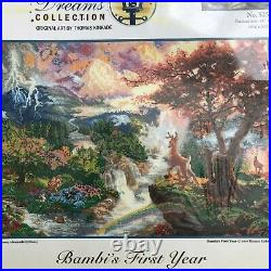 Disney Dreams Collection Bambi's First Year Cross Stitch Kit Thomas Kinkade NEW