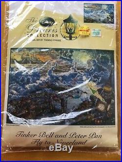 Disney Dreams Collection Thomas Kinkade Tinker Bell Peter Pan Cross Stitch 16x12