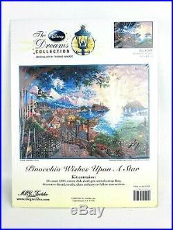 Disney Dreams Pinocchio Wishes Upon A Star Cross Stitch #52501 Thomas Kinkade