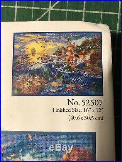 Disney Dreams The Little Mermaid Cross Stitch Kit Thomas Kinkade 16x12 Sealed