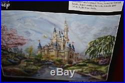 Disney Magic Kingdom Cross Stitch Kit Art By Thomas Kinkade The Art Of Disney