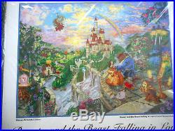 Disney Thomas Kinkade Beauty and the Beast Falling in Love cross stitch kit