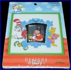 Dr Seuss Grinch Who Stole Christmas & Cat In The Hat Cross Stitch Kit Lot Of 5