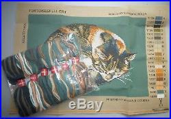EHRMAN 2003 TORTOISESHELL CAT GREEN by ELIAN McCREADY TAPESTRY NEEDLEPOINT KIT