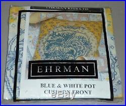 EHRMAN BLUE & WHITE POT discontinued KAFFE FASSETT TAPESTRY NEEDLEPOINT KIT RARE