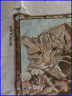 EHRMAN CARPET CAT by KAFFE FASSETT NEEDLEPOINT TAPESTRY KIT RARE / RETIRED 1991