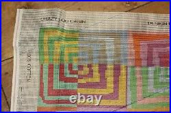 EHRMAN Crazy Log Cabin KAFFE FASSETT needlepoint TAPESTRY KIT large RARE discont