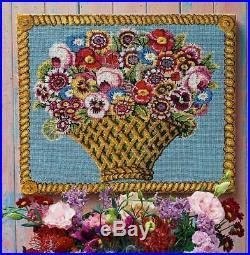 EHRMAN KAFFE FASSETT LARGE BASKET OF FLOWERS tapestry NEEDLEPOINT KIT RETIRED