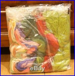 EHRMAN KAFFE FASSETT Ribbon Nosegay Green TAPESTRY NEEDLEPOINT KIT RETIRED RARE