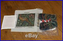 EHRMAN Mini Pheasant CANDACE BAHOUTH retired TAPESTRY NEEDLEPOINT KIT MEDIEVAL