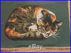 EHRMAN NEEDLEPOINT/TAPESTRY KIT ELIAN McCREADYS TORTOISESHELL CAT