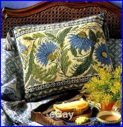EHRMAN Peacock Tile CREAM NEEDLEPOINT TAPESTRY KIT DEBORAH KEMBALL Arts & Crafts