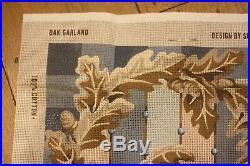 EHRMAN Susan Skeen 1990 OAK GARLAND tapestry NEEDLEPOINT KIT RETIRED RARE