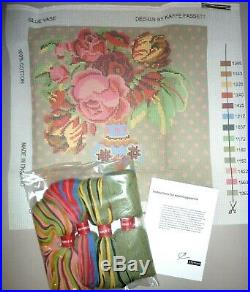EHRMAN'THE BLUE VASE' by KAFFE FASSETT TAPESTRY NEEDLEPOINT KIT DISCONTINUED