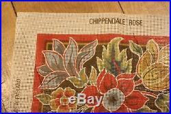 EHRMAN TUDOR ROSE / CHIPPENDALE ROSE NEEDLEPOINT TAPESTRY KIT RARE Royal School
