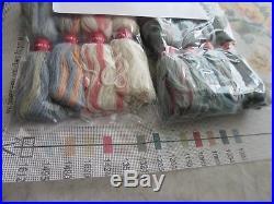 EHRMAN Tapestry Needlepoint Kit HOLLYHOCKS PANEL Ann Blockley England 37.5 x 13