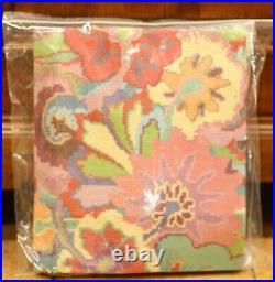 EHRMAN Tropical Flowers KAFFE FASSETT rare TAPESTRY NEEDLEPOINT KIT lrge VINTAGE