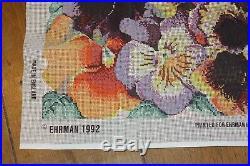 EHRMAN VINTAGE Large Cushion PANSIES Elian McCready TAPESTRY NEEDLEPOINT KIT