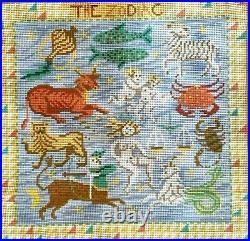 EHRMAN Zodiac CANDACE BAHOUTH needlepoint TAPESTRY KIT Vintage Horoscope