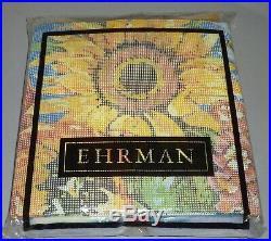 EHRMAN rare MARDI GRAS CUSHION by ELIAN McCREADY TAPESTRY NEEDLEPOINT KIT