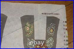 EHRMAN tapestry needlepoint kit AURICULA SLIPPERS by KAFFE FASSETT rare VINTAGE
