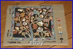 EHRMAN tapestry needlepoint kit NIGHT TREE by KAFFE FASSETT very rare VINTAGE